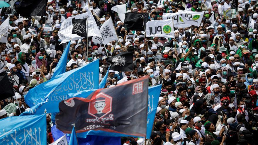 Manifestaciones anti-Macrón en Indonesia
