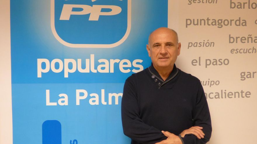 Gonzalo Pérez, concejal del grupo Popular en el Ayuntamiento de Santa Cruz de La Palma.