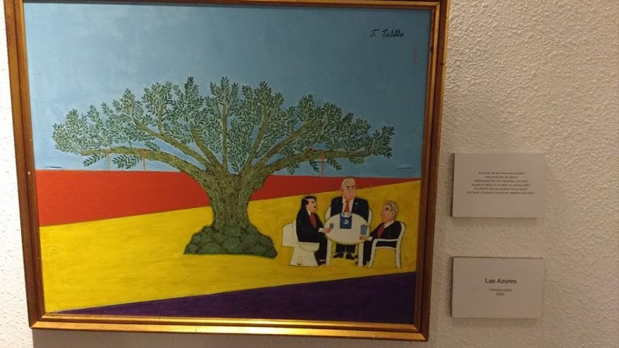 Aznar, Tony Blair y George W. Bush en 'Las Azores', de Felipe Estella.
