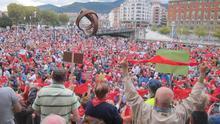 Imagen de archivo de una manifestación de pensionistas en Bilbao.