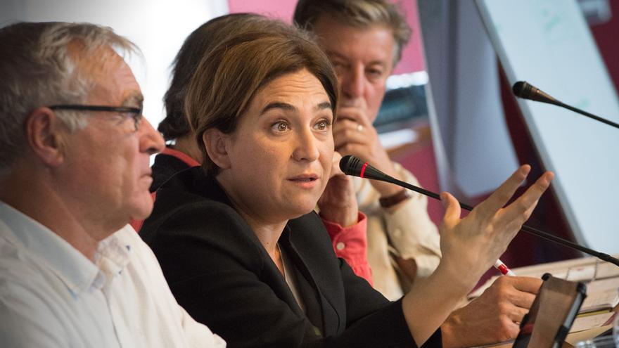 Ada Colau, en un momento de su intervención en el CCCB / SANDRA LÁZARO