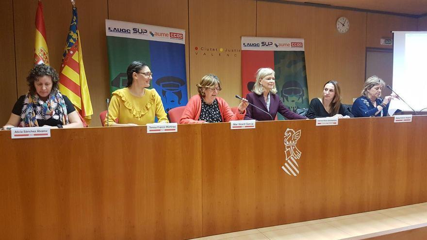 La plataforma de mujeres policías y militares para la visibilización se presenta en la Ciudad de la Justicia de Valencia