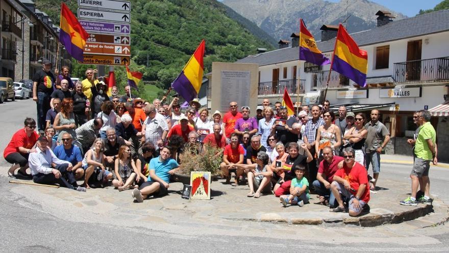 Actos de homenaje de 2016 a los soldados que defendieron la Bolsa de Bielsa
