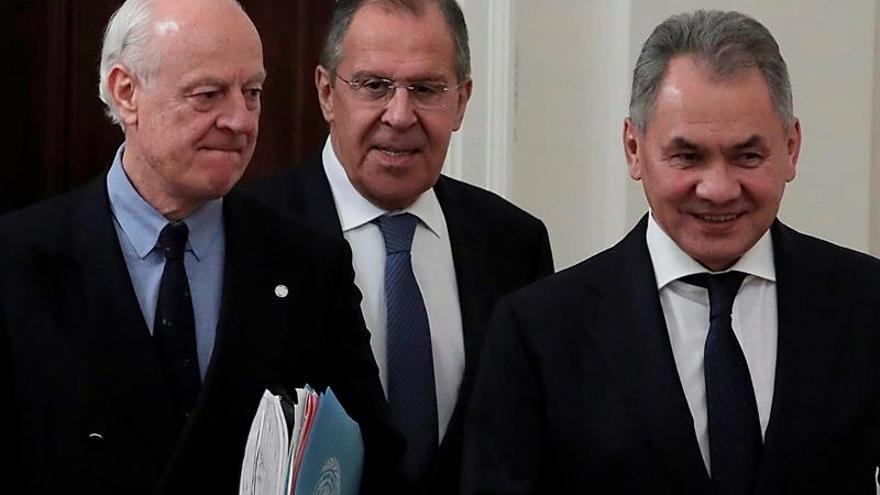 De Mistura asegura en Rusia que no hay alternativa a las negociaciones de Ginebra