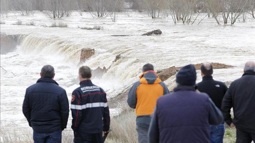 Las motas de contención aguantan el caudal del Ebro aunque preocupa la situación en Cabañas
