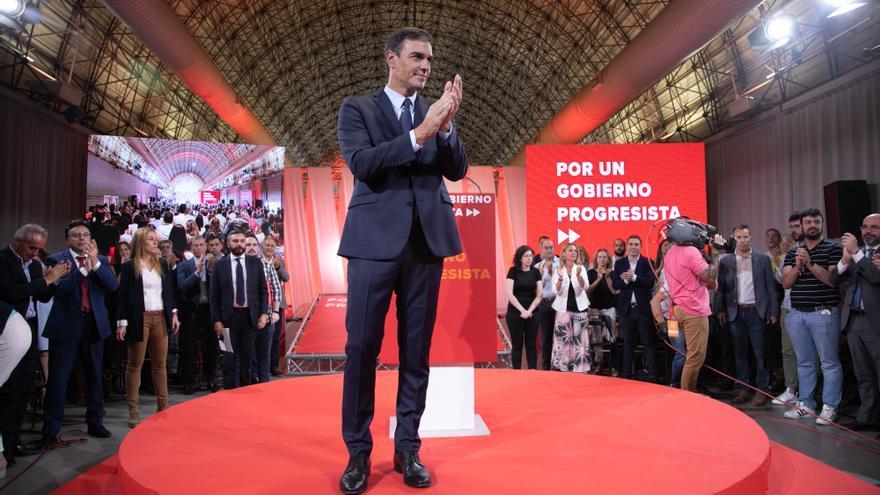 Pedro Sánchez en el acto de presentación del Programa Común Progresista el martes
