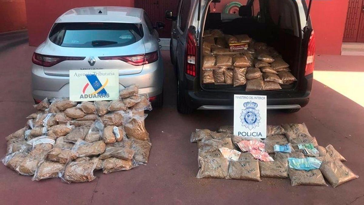 Tabaco de contrabando intervenido en la operación 'Tronco'.