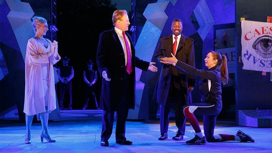 El Julio César de Shakespeare en forma de Donald Trump.