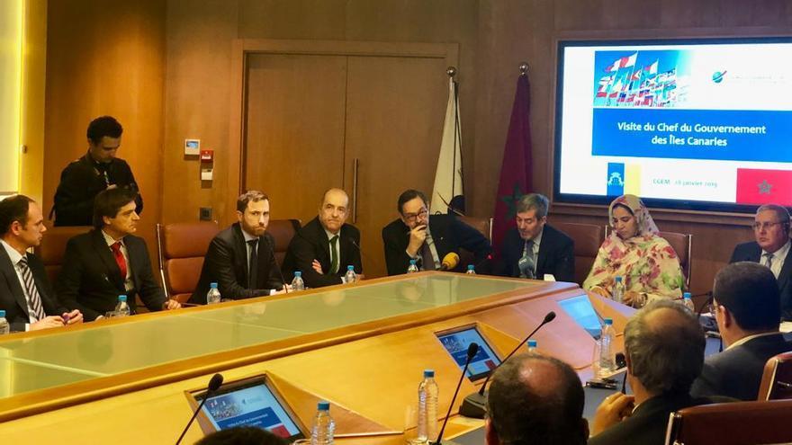 Representantes de la Asociación de Productores de Plátano de Canarias viajaron  este lunes hasta Marruecos para asistir a los actos previstos dentro del viaje oficial del presidente del Gobierno de Canarias, Fernando Clavijo.