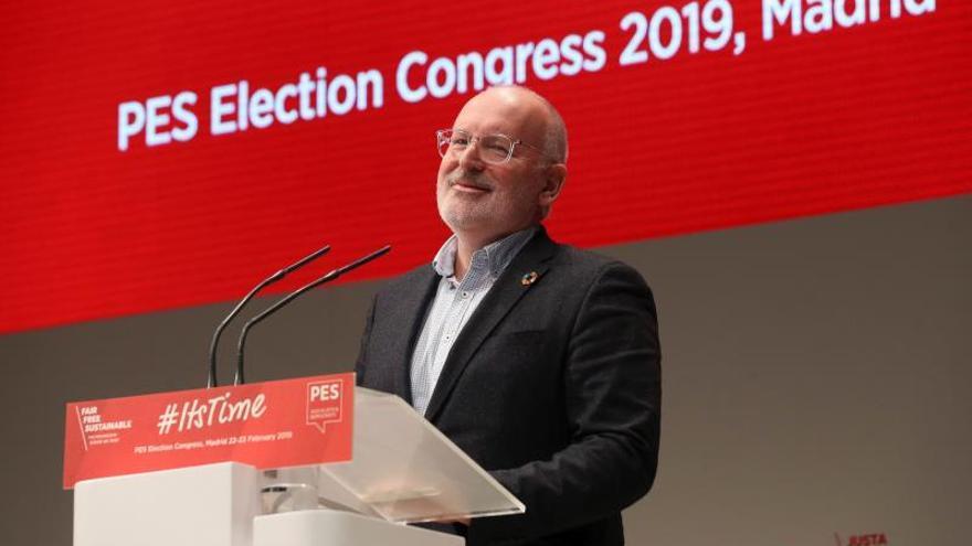 El candidato socialista a la CE quiere poner fin a brecha salarial en 5 años