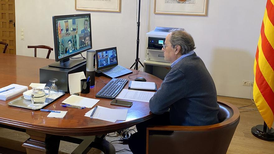 Quim Torra preside la reunión de Govern de este martes por vídeoconferencia