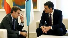 Feijóo y Sánchez, reunidos en Moncloa. Imagen de archivo.