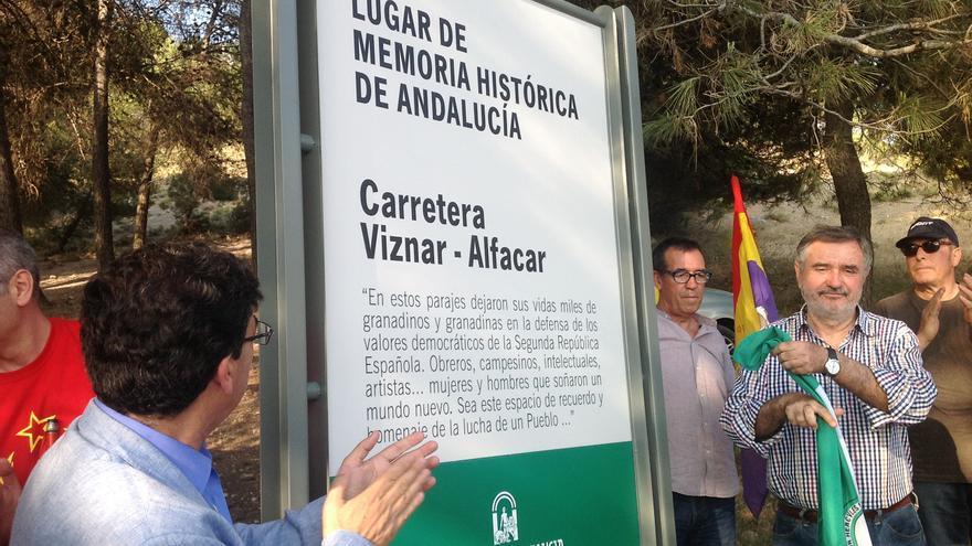 La carretera de Víznar -Alfacar ha sido señalada como lugar de la Memoria