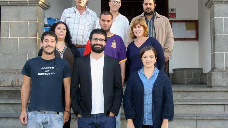 En la imagen, parte de los componentes de la lista de IUC al Ayuntamiento de Los Llanos de Aridane