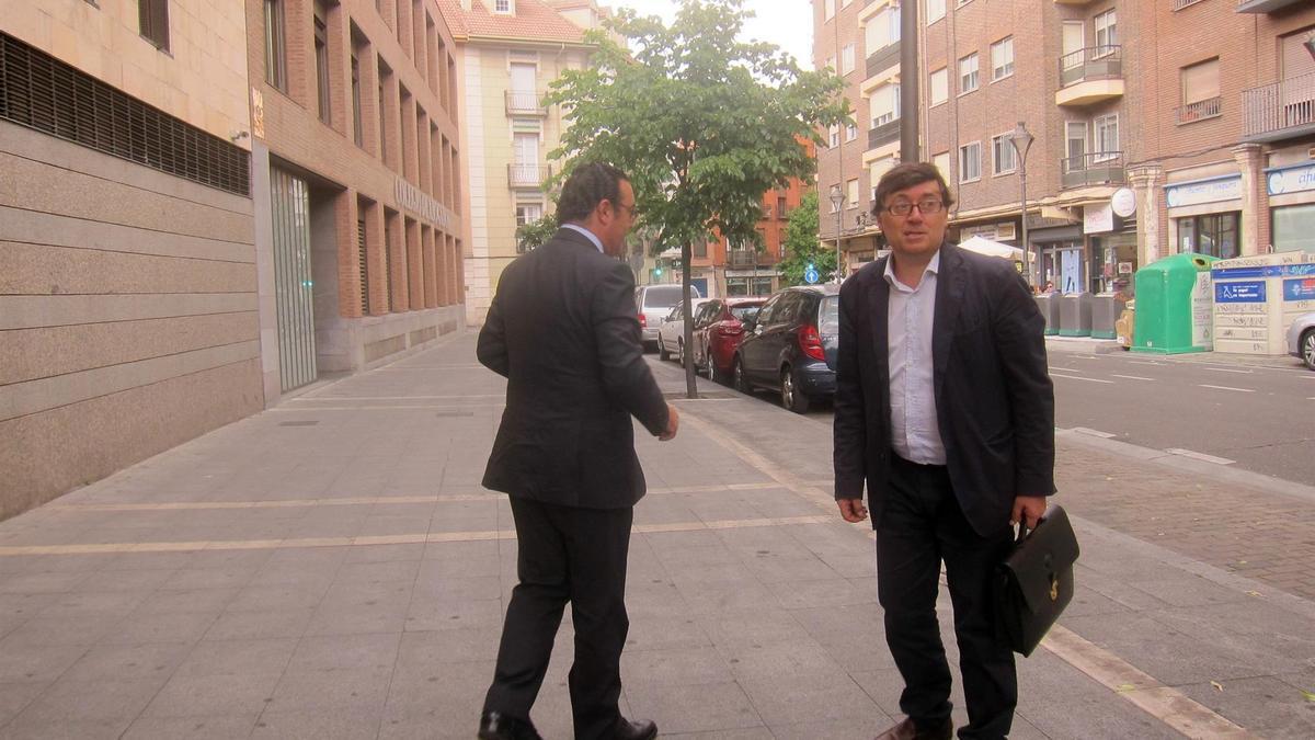 Rafael Delgado, en los juzgados.