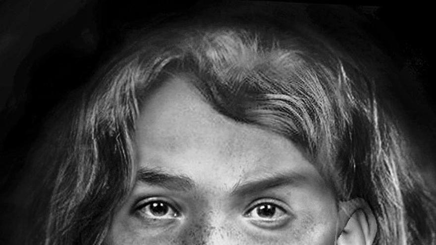 Reconstrucción del rostro de una aborigen canaria del siglo XV a través de un cráneo custodiado en la Universidad de Dundee.