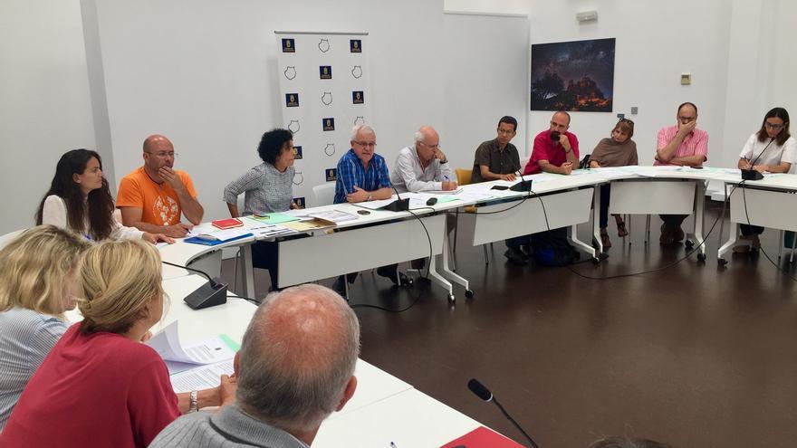 Carmelo Ramírez, al inicio de la reunión trimestral del Consejo de Solidaridad de Gran Canaria.