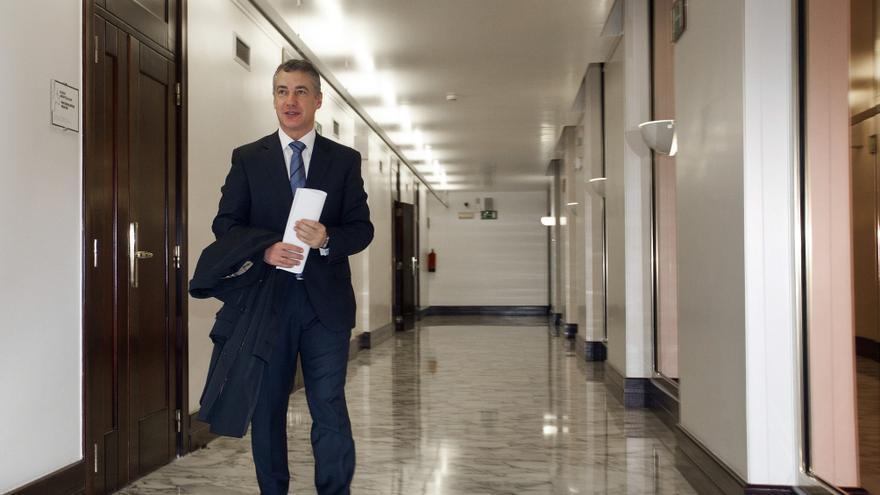 El 'lehendakari', Iñigo Urkullu, ayer tras ser elegido para el cargo en segunda votación. / Efe