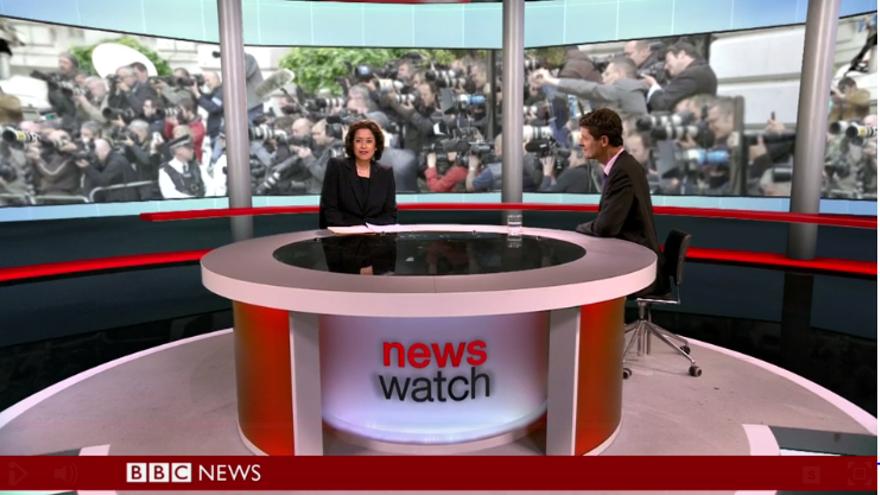 Plató de noticias de BBC