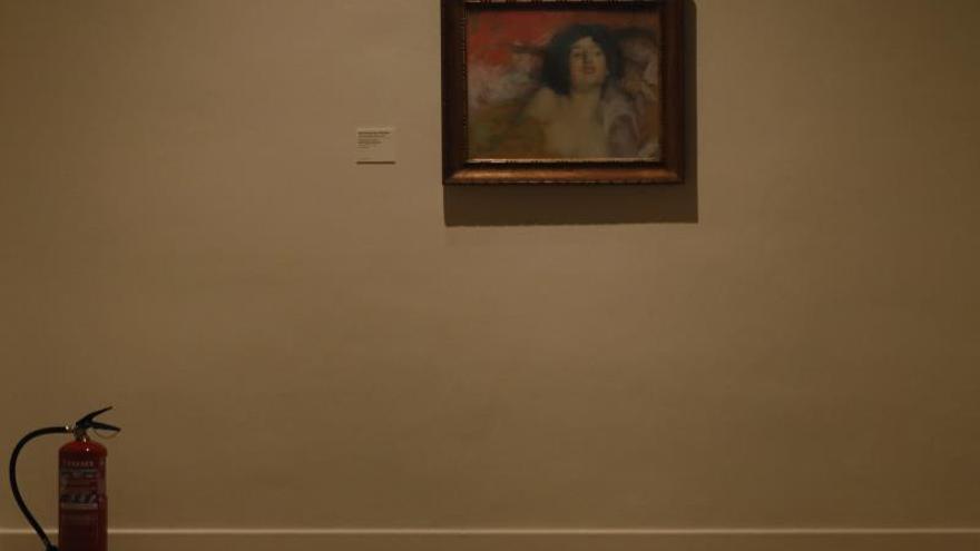 """El cuadro """"Mujer tumbada.Ensoñación"""", de la pintor Edmon Aman-Jean, forma parte de la exposición """"Tocar el color.La renovación del pastel"""", inaugurada hoy en la sede de la Fundación Mapfre de Barcelona y que muestra el resurgimiento de esta técnica pictórica desde la década de 1830 hasta sus evoluciones en el siglo XX."""