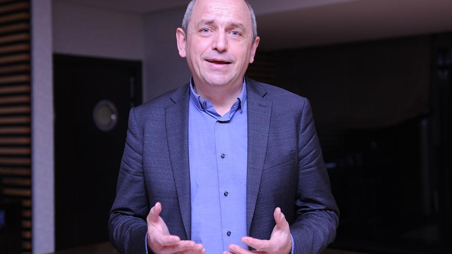 El político e ingeniero francés Pierre Larrouturou, el martes en Madrid.