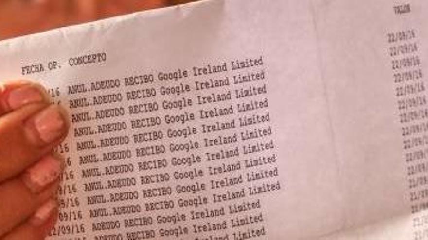 Las facturas de Google Ireland