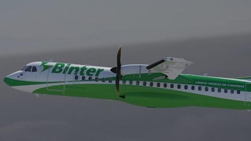 Imagen de un avión de la aerolínea Binter.