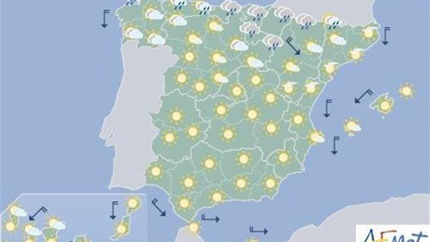 Temperaturas en descenso y lluvia en los sistemas montañosos del norte