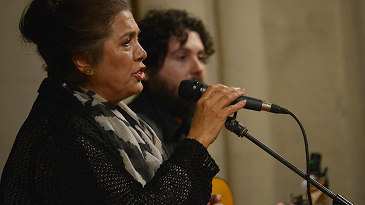 Lole Montoya, en su última actuación en Córdoba