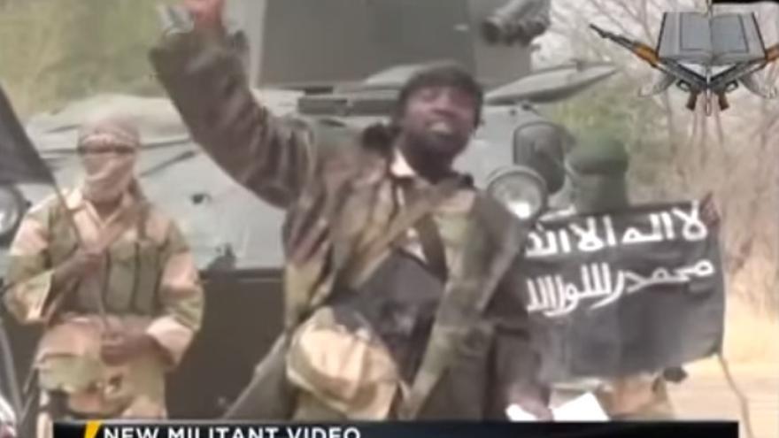 Imagen de un vídeo con el discurso de Abubakar Shekau, líder de Boko Haram.