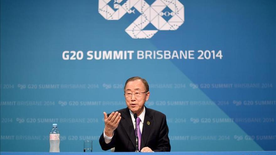 Ban Ki-moon pide al G20 que intensificar la lucha contra el ébola