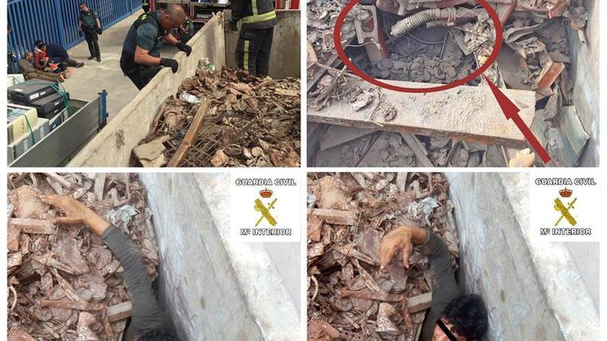 Rescatan a dos inmigrantes ocultos entre chatarra en el Punto Limpio de Melilla