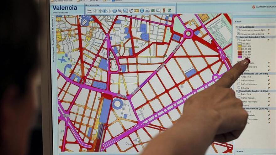 Valencia exporta un sistema para saber en tiempo real el ruido en cada calle