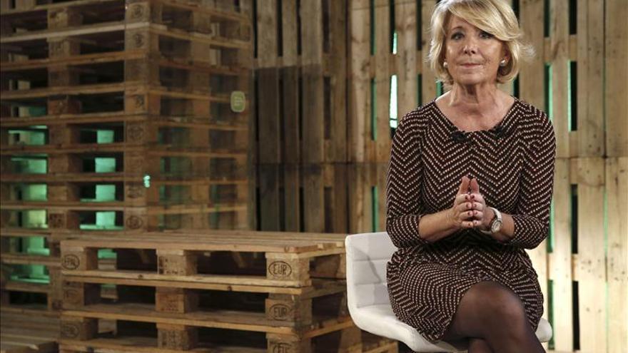 Esperanza Aguirre dice que ha llegado el momento de cumplir el programa electoral