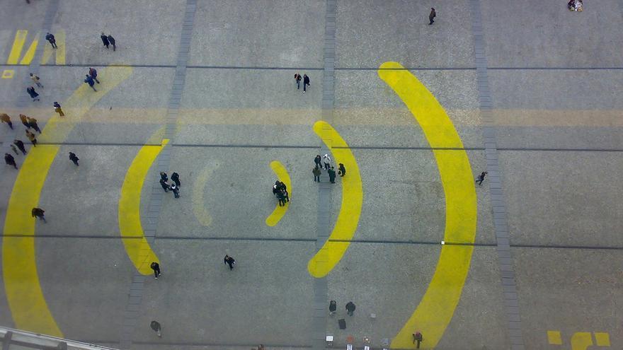 Zona de acceso WiFi en París.