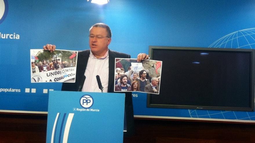 """PP Murcia: """"Nos hemos vuelto locos para apoyar a un corrupto o no será lo contrario, que Sánchez es honrado y entregado"""""""