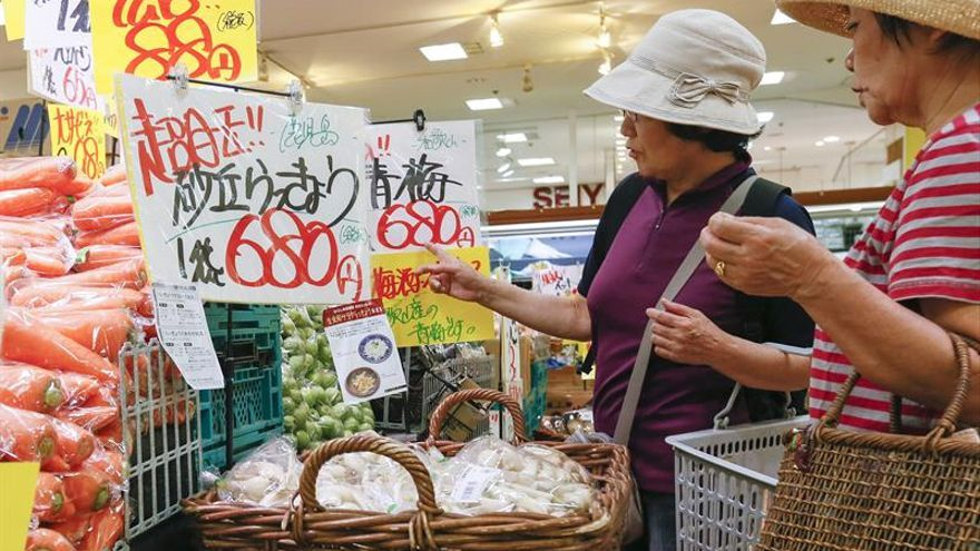 Los precios subieron en Japón un 0,2 % en marzo, el tercer avance consecutivo