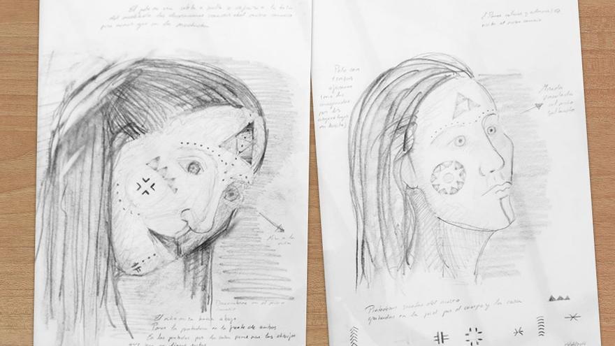 Bocetos de la nueva obra del escultor Chano Navarro