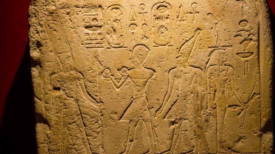 Bajorrelieve egipcio custodiado en el Museo Vaticano.
