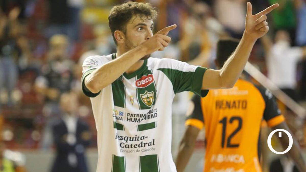 Zequi celebra un gol en una imagen de archivo