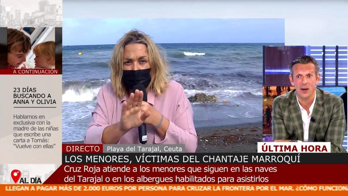Mayka Navarro, en directo desde Ceuta, explica la situación a Joaquín Prat