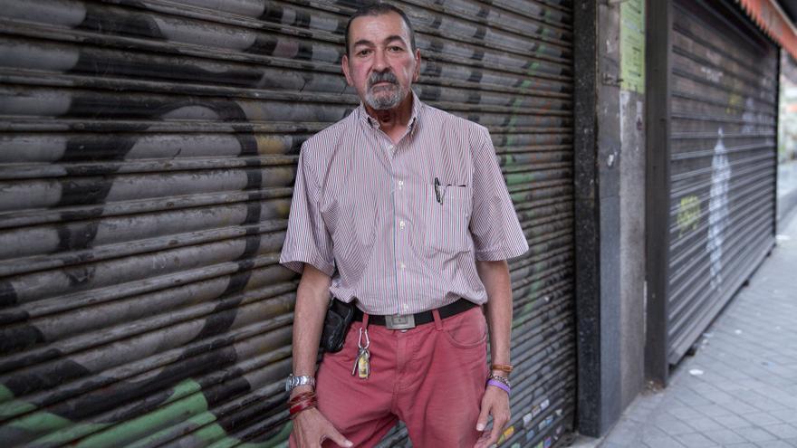 El militante de Podemos Jesus Lasanta Garcia, agredido en la asamblea / OLMO CALVO