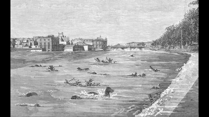 Ilustración de la Riada de Santa Teresa de 1879