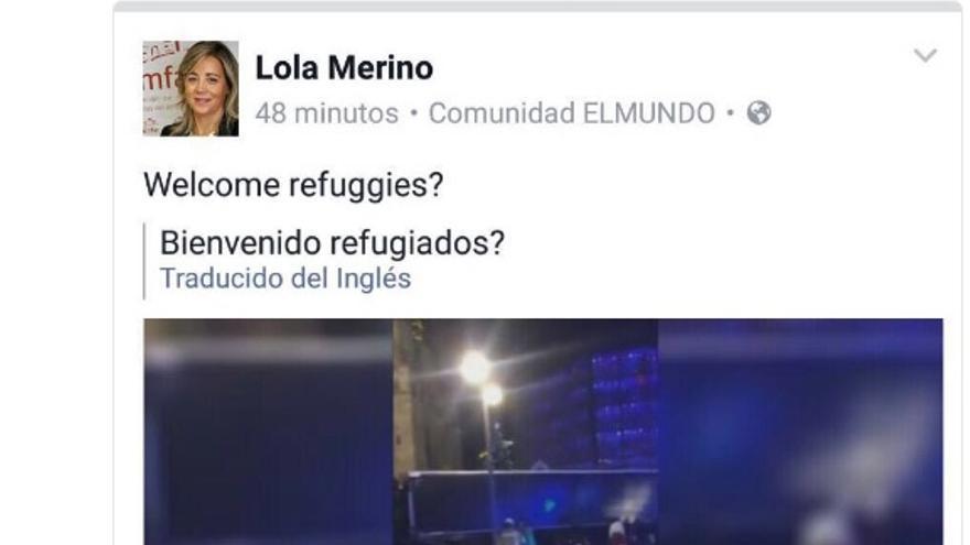 Comentario de Lola Merino en Facebook