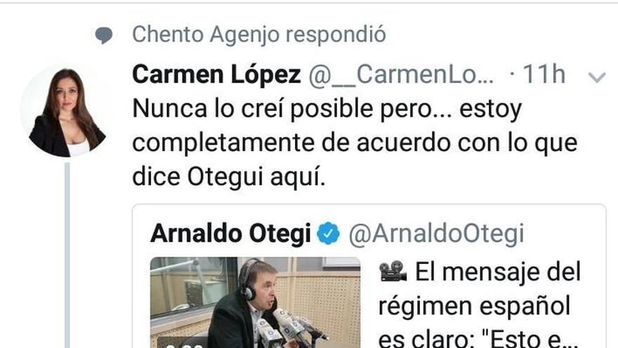 """PSOE e IU critican un tuit """"machista"""" de un concejal del PP de Mairena a la edil de Castilleja expulsada de Cs"""