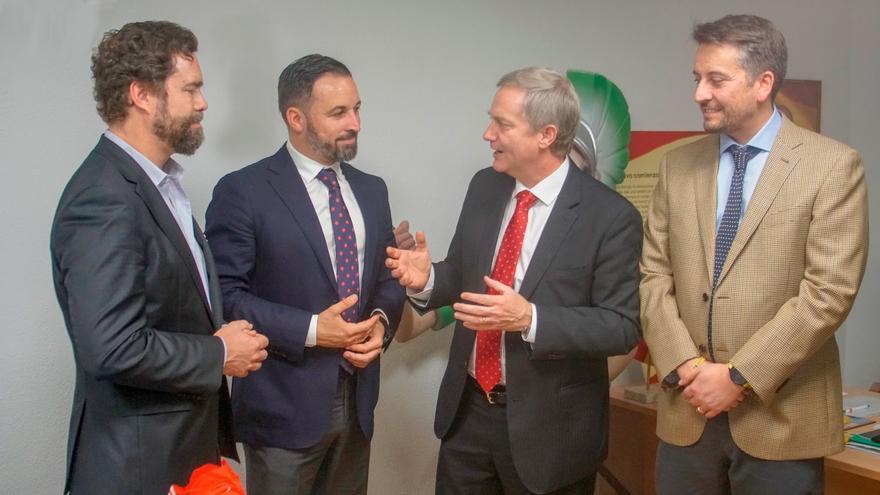 Reunión entre el líder de Vox, Santiago Abascal, y el del Partido Republicano de Chile, José Antonio Kast.