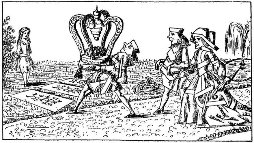 Ilustración del manuscrito original de Lewis Carroll de Alicia en el País de las Maravillas