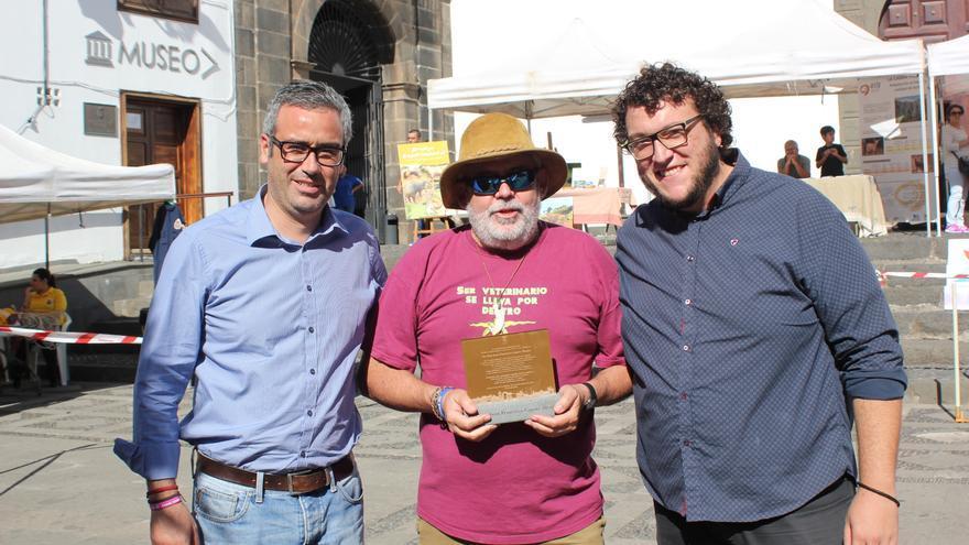 Sergio Matos (i), Juan Capote y Juanjo Neris.