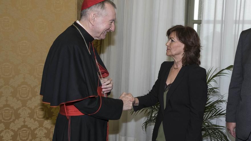 Calvo se reunió con secretario de Estado del Vaticano sin presencia del embajador español