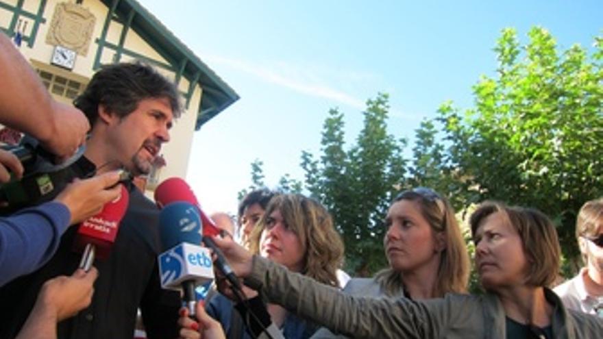 Pello Urizar en la fiesta de la vendimia en Lapuebla de Labarca